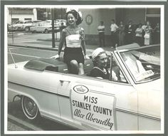 Miss Stanley County!  Albemarle, North Carolina 1962