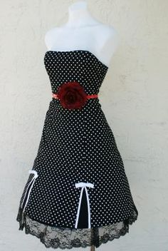 The PINUP BABYDOLL Retro 50s 60s Rockabilly VLV Dots Frock Party Dress XS