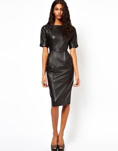 ASOS Leather Wiggle Dress I bought this dress and I was disappointed about the quality