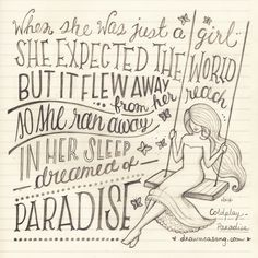 Coldplay - Paradise #alyricaday #coldplay #paradise #sketch #pencil