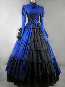 Gothic Lolita Victorian Aristocrat Blue Long Dress Gown..I want this!