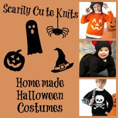 Scarily Cute Knits: 20 Homemade Halloween Costumes for Kids + Babies | AllFreeKnitting.com  These DIY Halloween costumes for kids will add some spooky spirit to your holiday.
