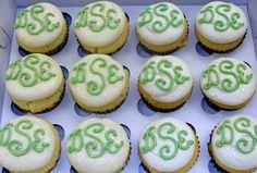 Monogram Cupcakes
