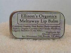 Ellison's Organics Lip Balm Label