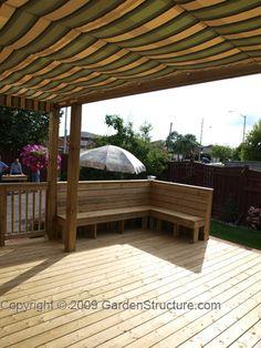 decks with pergola canopy from www.gardenstructure.com