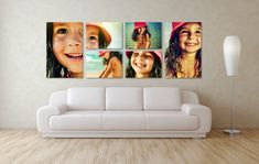 Decorating with canvas prints from your own photos