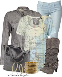 """""""Sapphire Grey Boots"""" by natasha-gayden on Polyvore"""