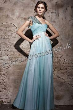 Floor Length One-shoulder Blue Chiffon A-line Evening Dress Genoa-0034  http://www.mydresspro.co.uk/160-genoa-dress