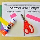 A quick and easy measuring comparison activity page for Kindergarten!  Just make copies and give each students 5 different colored strips of cons...