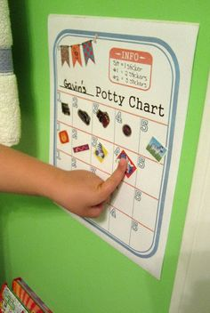 Potty Training Chart {FREE Printable!}