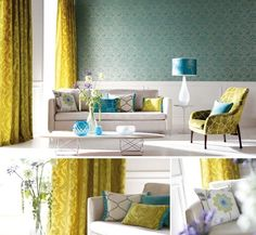 Best Blue And Yellow Lounge Room On Pinterest David Hicks 400 x 300
