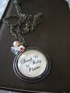 2013 LDS Young Women Theme Necklace by iloveviolin on Etsy, $13.00