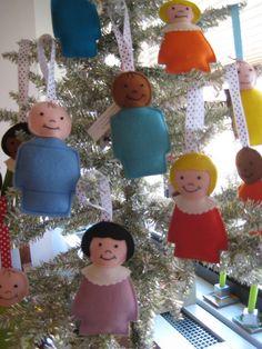 Little People felt ornaments