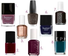 Fall 2013 nail polishes schools, fall nails, autumn, nail polish colors, nail colors, fall 2013, awesom nail, fall essentials, 2013 nail