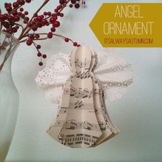 lessons from the nativity {angel ornament} - itsalwaysautumn - it's always autumn