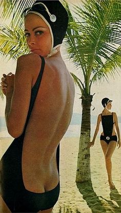 Swimwear fashion shoot, 1960's.
