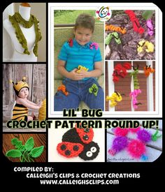 Calleigh's Clips & Crochet Creations: Free Lil' Bug Themed Crochet Patterns