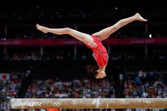 Kyla Ross of the United States competes on the balance beam in the Artistic Gymnastics Women's Team final on Day 4.