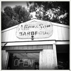 Allen & Son BBQ in Chapel Hill has fantastic pulled pork and cobbler.