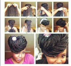 Individual Braids With Color