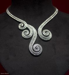 Spiral diamond necklace in the window of Cartier Paris, 11-2008