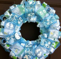 it's a boy wreath for door