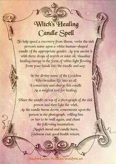 Witches healing candle spell