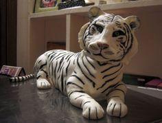 White tiger cake