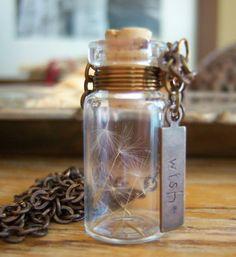 make a wish dandelion necklace