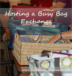 Hosting a Busy Bag Exchange