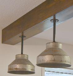 DIY Kitchen Light Fixtures {Part 2} mycreativedays.com @adamepp  these are cool!