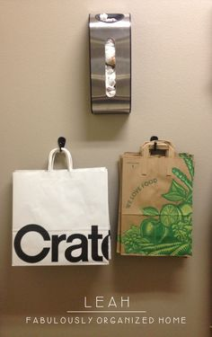 Organize Your Grocery Bags and Shopping Totes FabulouslyOrganizedHome.com
