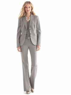 A grey suit is a nice alternative to black for an interview.