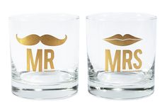 Mr. & Mrs. Cocktail Glass Set http://rstyle.me/n/e55bcnyg6