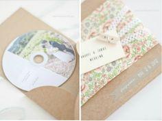 Wedding favors / Caja para DVD o CD con Fotos o Música para regalar a los invitados en una Boda!