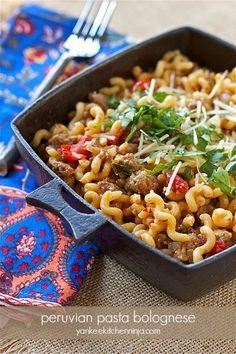 Spicy Peruvian-style pasta bolognese | yankeekitchenninja.com