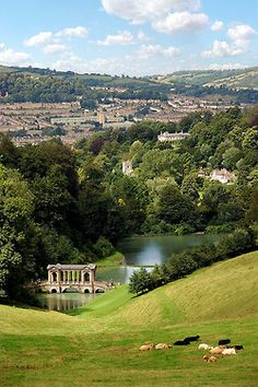 The very beautiful Prior Park with spectacular views across the city