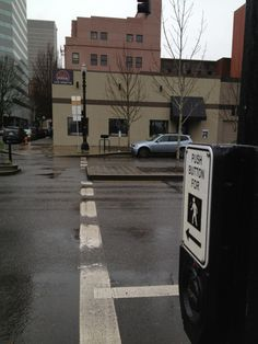 Joseph Rose     @pdxcommute:    Twitter commuting contest: what is amiss in this crosswalk in downtown #Portland? twitpic.com/8ksfio