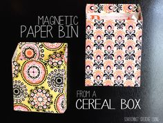 magnet paper, box upcycl, cereal boxes, upcycle cereal box, diy idea