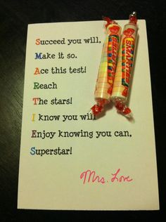 smarties for test, student, school kids, acrostic poem