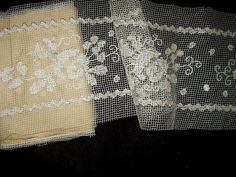 Antique Edwardian 1920s Darn Net Lace Trim by TheGatheringVintage