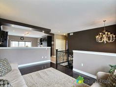 Check out this Living Room with dark walls in Welland #ComFree   #ontario #realestate