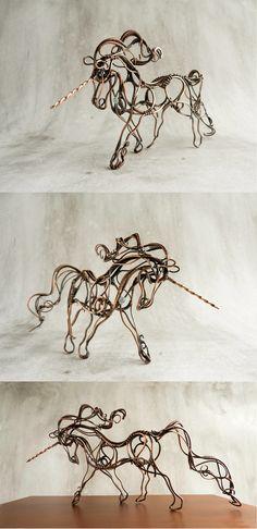 Wire Unicorn by UrsulaOT.deviantart.com on @deviantART