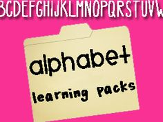 shapes, letters, colors, numbers packets
