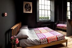 Black bedroom in a georgian townhouse in London, georgian-townhouse-london-11.jpg