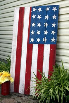 Painted wood Pallet -- #American Flag ( June 2014)