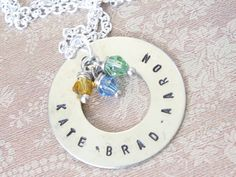 Hand stamped jewelry makes a great gift!
