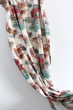 1940s Western Curtain / Vintage Drape by 86home on Etsy, $68.00