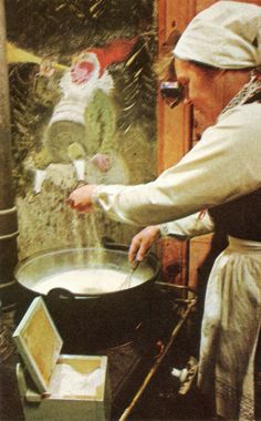 The bride's mother makes rommegrot, a thick sour-cream porridge that ...