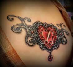 Jeweled Cross Tattoo Designs